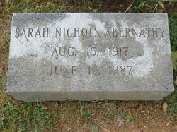 Sarah <i>Nichols</i> Abernathy