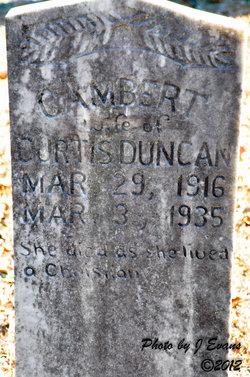 Cambert Duncan