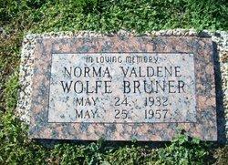 Norma Valdene <i>Wolfe</i> Bruner