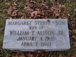 Margaret <i>Stephenson</i> Alison