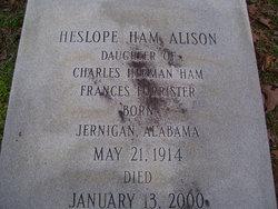 Heslope <i>Ham</i> Alison