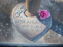 Sallie Elizabeth Beth Anderson