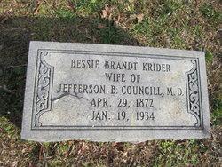 Bessie Brandt <i>Krider</i> Councill