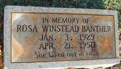 Rosa Hattie <i>Winstead</i> Banther