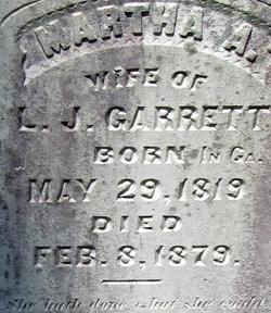 Martha A. <i>Daniel</i> Garrett