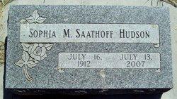 Sophia Marie <i>Saathoff</i> Hudson