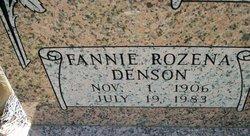 Fannie Rozena <i>Denson</i> Ward