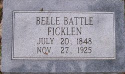 Belle <i>Battle</i> Ficklen