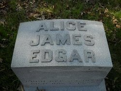 Alice <i>James</i> Edgar