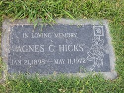 Agnes <i>Curtis</i> Hicks