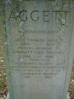 Harriett Ann <i>Smedley</i> Aggett