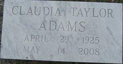 Claudia <i>Taylor</i> Adams