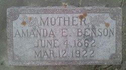 Amanda Charlotta <i>Eliason</i> Benson