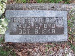 Hester K Hattie Burkett