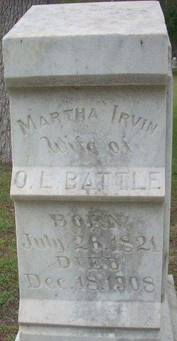 Martha Sappington <i>Irvin</i> Battle
