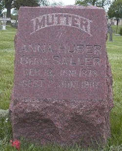 Anna <i>Gstoettner</i> Huber