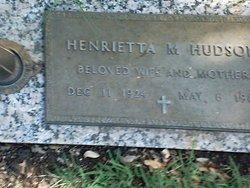 Henrietta M Hudson