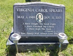 Virginia Carol <i>Sims</i> Spears