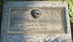Mary <i>Love</i> Bureleson