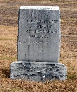 Elizabeth Jane <i>McDaniel</i> Cunningham