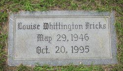 Anna Louise <i>Whittington</i> Fricks