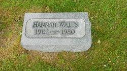 Hannah May <i>Wright</i> Watts
