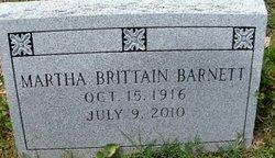 Martha <i>Brittain</i> Barnett