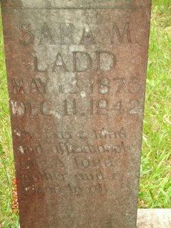 Sara M <i>Johnston</i> Ladd