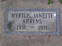 Myrtle Janette Ahrens