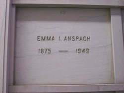 Emma <i>Isenberg</i> Anspach