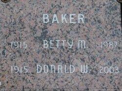Betty M Baker
