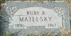 Ruby Malvina <i>Brooks</i> Matelsky
