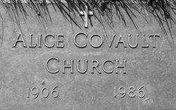 Alice Elizabeth Gartrell <i>Covault</i> Church