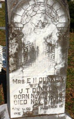 Emily H <i>Tubb</i> Dunklin