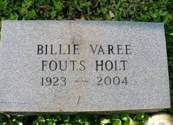 Billie Varee <i>Fouts</i> Holt
