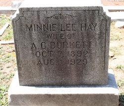 Minnie Lee <i>Hay</i> Burkett