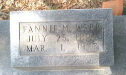 Fannie <i>Moyers</i> Webb