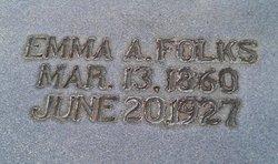 Emma A <i>Morgan</i> Folks