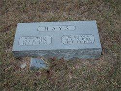 Sarah Ola <i>Askew</i> Hays