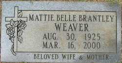 Mattie Belle <i>Brantley</i> Weaver