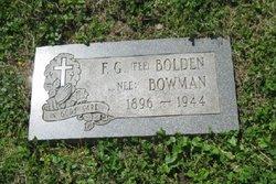 Fee G <i>Bowman</i> Bolden