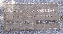 Marietta A Andrews