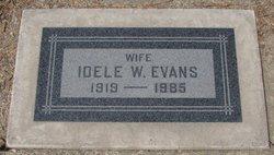 Idele G <i>Wyman</i> Evans