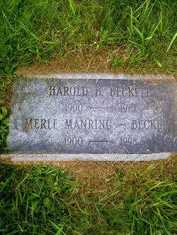 Merle Manring Beckett