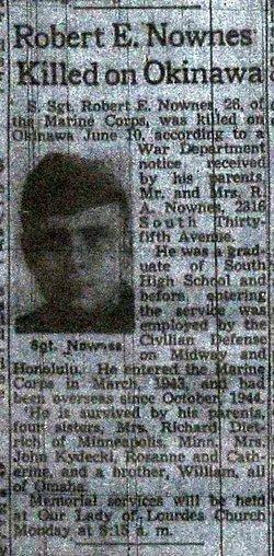Sgt Robert E Nownes