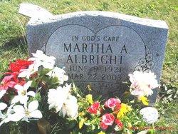 Martha A <i>Corson</i> Albright