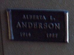 Alberta L Anderson