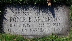 PFC Roger E. Anderson