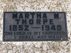 Martha Matilda <i>Cook</i> Thorpe