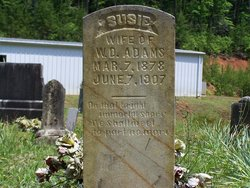 Susie <i>Cantrell</i> Adams